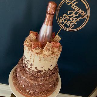 Bottega 21st birthday cake