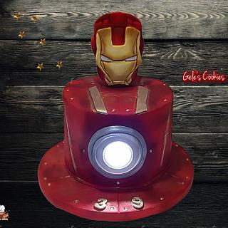 Ironman cake with light