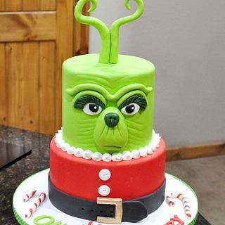 Grinch Christmas Cake