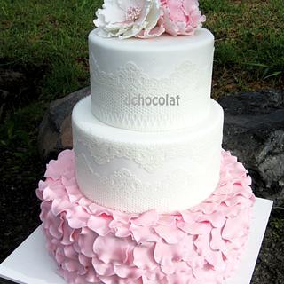 Vintage Baptism Cake - Cake by Dchocolat