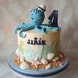 Octopus - Cake by Jitkap