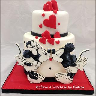 Mickey and Minnie in love - Cake by Barbara Mazzotta