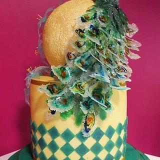 Sugar Peacock Cake