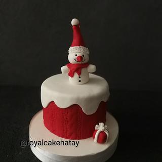 Little snowman cake