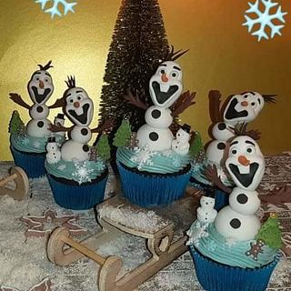 Olaf cupcakes!