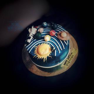 Galaxy theme cake @thecaketheorysiliguri - Cake by Rakhee Mitruka