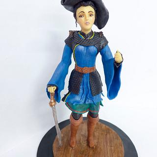 Pirate lady chocolate sculpture