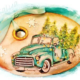 Christmas cookies/CAR - Cake by Galya's Art