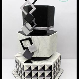 Optical Illusion- 50 cakes of gray Around the world in Sugar collaboration - Cake by Anshalica Miles -Destiny's Delights Custom Cakes