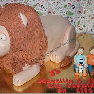 Lion Carved Cake