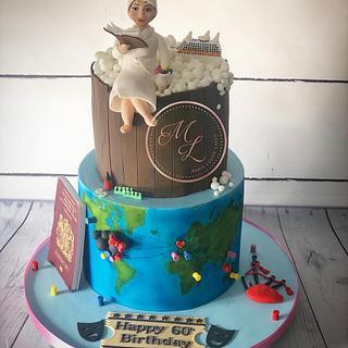 Around the world and fav things cake