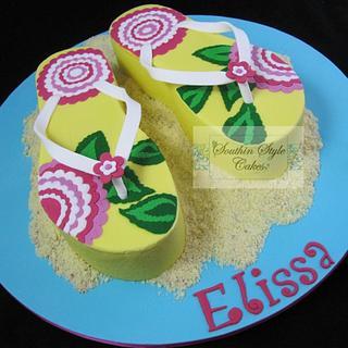 Flip flop / thongs cake