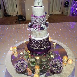 'All the Purples' Wedding Cake