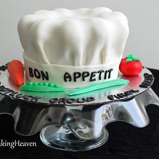 3D Chef's hat cake