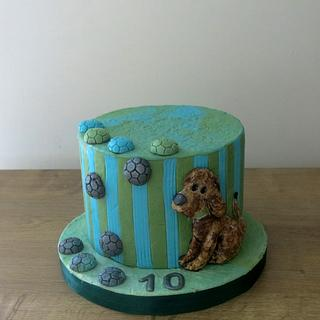Playful Pup - Cake by The Garden Baker