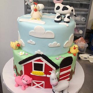 Barnyard cake