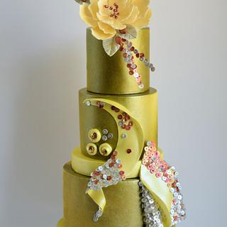 Wedding Cakes Inspired by Fashion A Worldwide Collaboration - Cake by Cake Creations by ME - Mayra Estrada