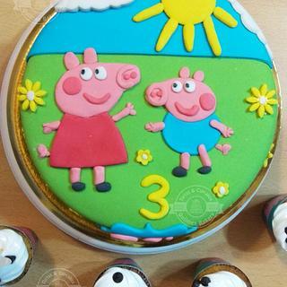 Torta Peppa Pig Cake - Cake by Tortas y Cupcakes Bakery
