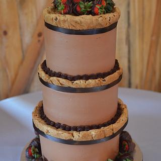 Chocolate chip cookie groom's cake