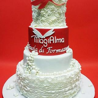 White & Red Cake - Cake by Lucia Busico