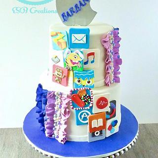 Apple App cake