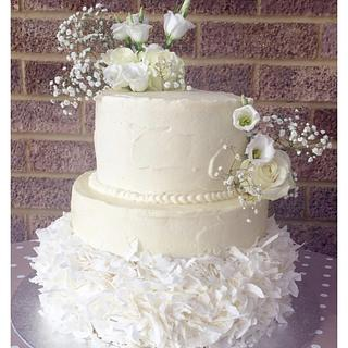 Coconut Floral Wedding Cake