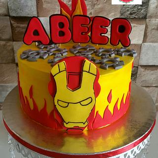 Ironman theme cake