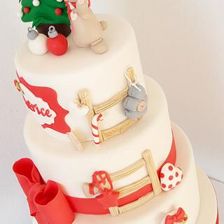 Christmas cake for little girl