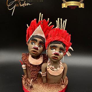 Goroka tribe  - Cake by Cake Garden