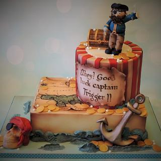 Pirate Farewell Cake