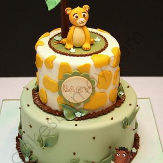 Simba Lion King Baby Shower Cake