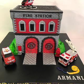 Fire station cake
