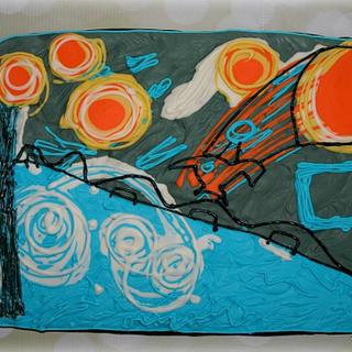 """""""Starry Night"""" (Sugar Art For Autism)"""