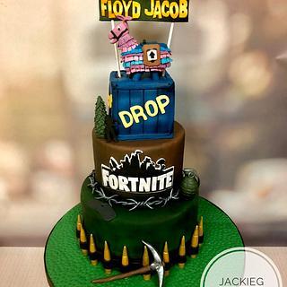 My son's Fortnite Cake