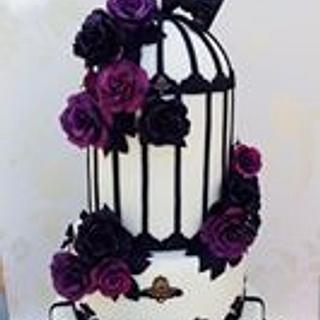 Black and purple roses w