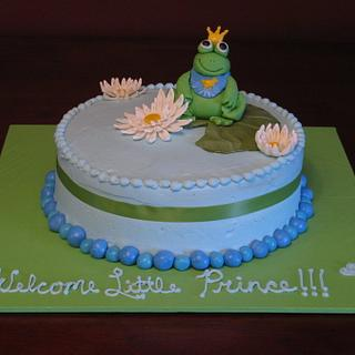 Welcome Little Prince - Baby Shower Cake - Cake by Taste of Love Bakery