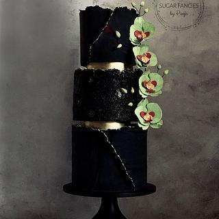 Black beauty - Cake by SugarfanciesbyPooja