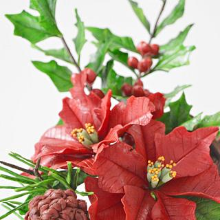 Preparing Christmas- Freeformed Sugar Flowers