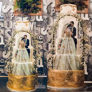 Elegant wedding cake 🎂 by La Rosetaartenshop shereen  - Cake by Shereen