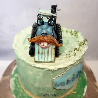 Toothy tractor:) - Cake by SojkineTorty