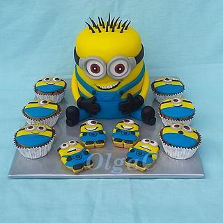 Minions - Cake by OlgaC