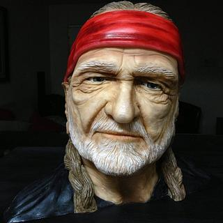 Willie Nelson shaped cake
