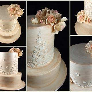 Bronze Wedding Cake