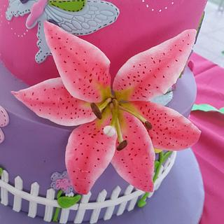 Garden and Butterfly Cake