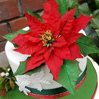 Wafer Paper Poinsettia - Cake by Gabriela Rüscher
