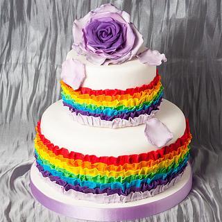 rainbow birtday cake