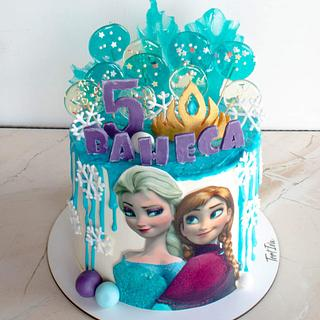 Elsa and Anna - Cake by TortIva