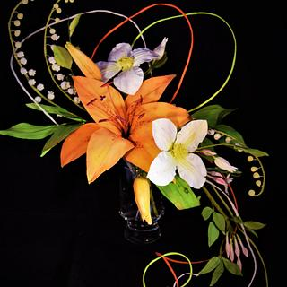 Tiger lily flower arrangement