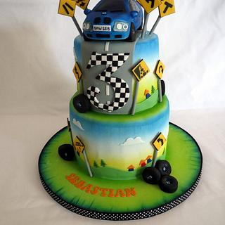 BMW birthday cake for a child