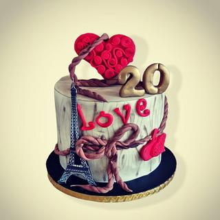 20 years together ♥️ - Cake by Desislava Tonkova